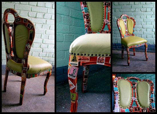 Современный декупаж стульев
