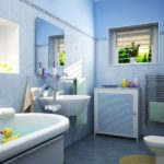 Фото 42: Ванна в голубых тонах с помощью пластиковых панелей