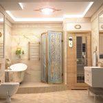 Фото 34: ИК-сауна в дизайне ванной