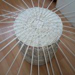 Фото 37: Корзина для белья из газетных трубочек