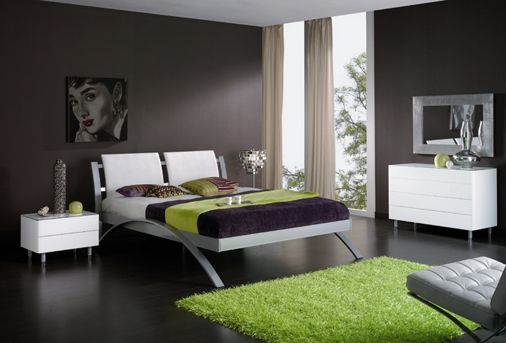Декорирование спальни в современном стиле