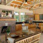 Фото 37: Большая летняя кухня