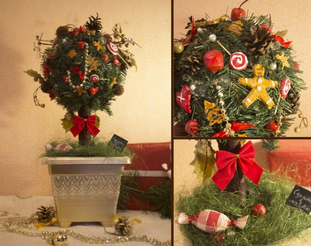 Рождественский топиарий своими рукуми