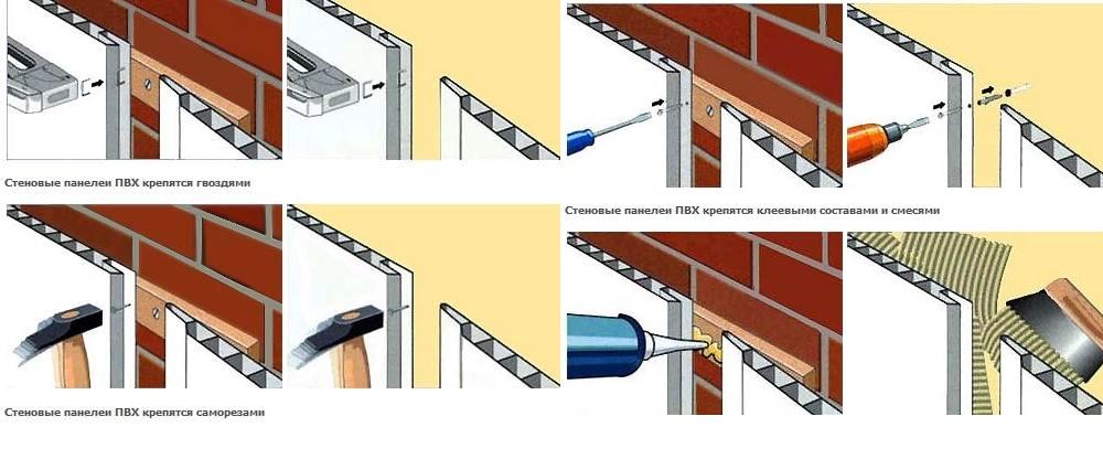 Способы крепления пластиковых панелей