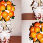 Фото 39: Топиарий из мандаринов