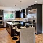 Фото 32: Барная стойка для кухни стеклянная