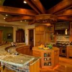 Фото 34: Барная стойка для кухни полукруг