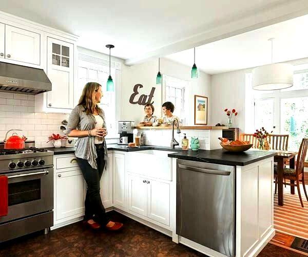 Барная стойка для кухни со встроенной техникой