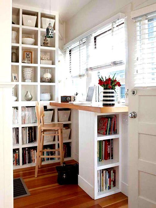 Барная стойка для кухни с книгами
