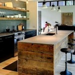Фото 22: Барная стойка для кухни рустик