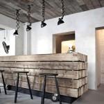 Фото 41: Барная стойка для кухни кантри