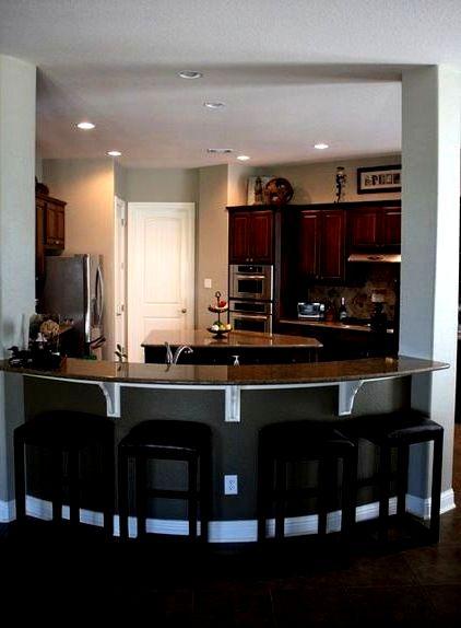 Барная стойка для кухни полукруглая
