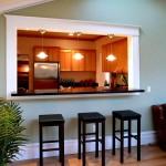 Фото 5: Барная стойка для кухни в проеме