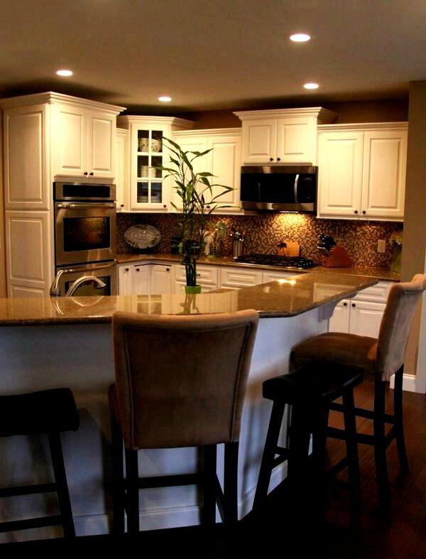 Барная стойка для кухни  необычной формы