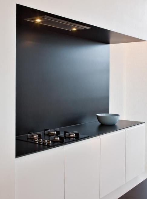 Встроенная кухня в стиле минимализм фото