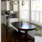 Фото 27: Овальный стол на встроенной кухне