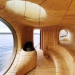 Фото 9: Баня с круглым окном на море
