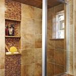 Фото 16: Бронзовый кафель для ванной комнаты