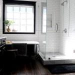 Фото 19: Бело-черный кафель для ванной комнаты