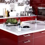 Фото 7: Красная мебель на кухне