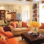Фото 36: Мягкая мебель для гостиной фото с яркими диванами