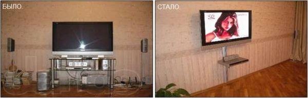 Преимущества настенного размещения ТВ приемника
