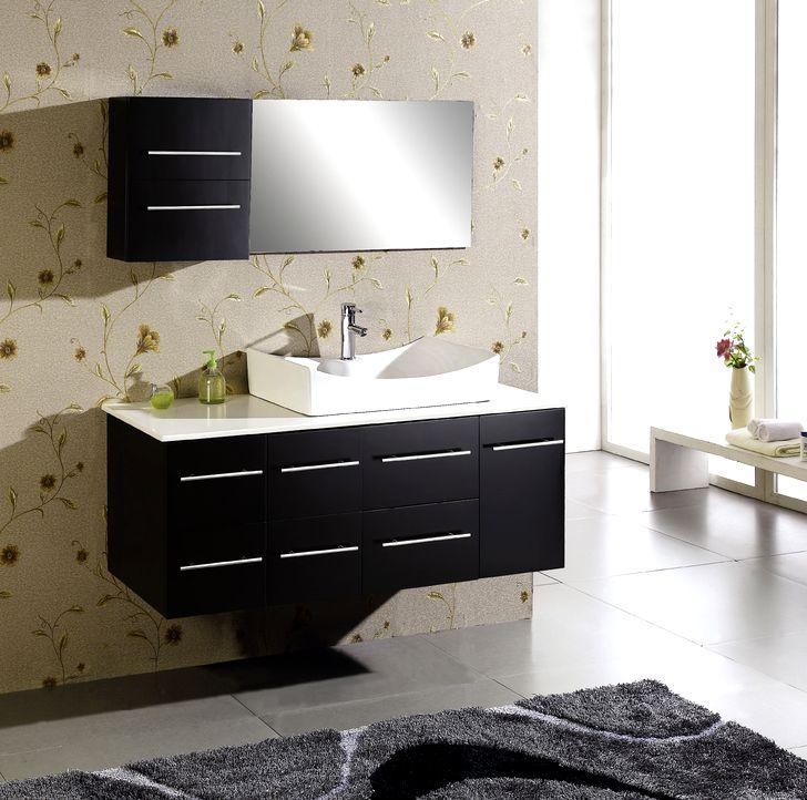 Современный дизайн шкафчиков для ванной