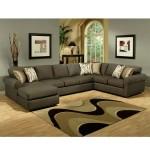 Фото 26: Темно-серый диван у ковра