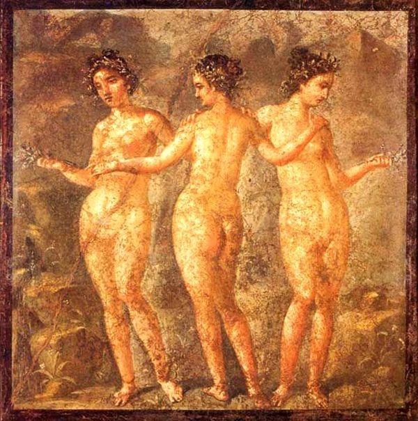 Фреска с девушками фото