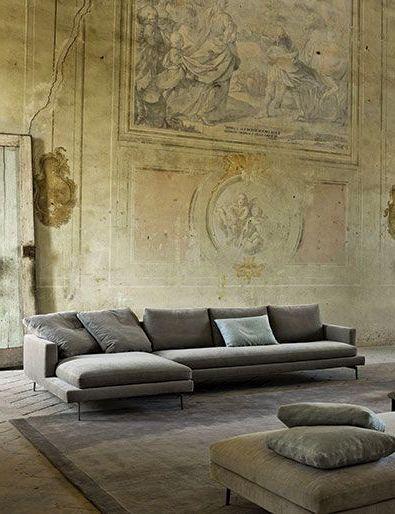 Фреска в гостиной в стиле модерн