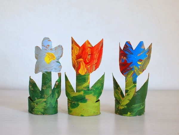 Тюльпаны из бумаги декор