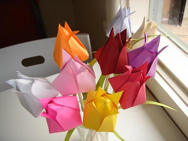 Букет тюльпанов в вазе