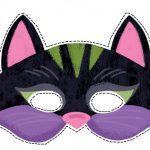 Фото 6: Шаблон кошачьей маски 1
