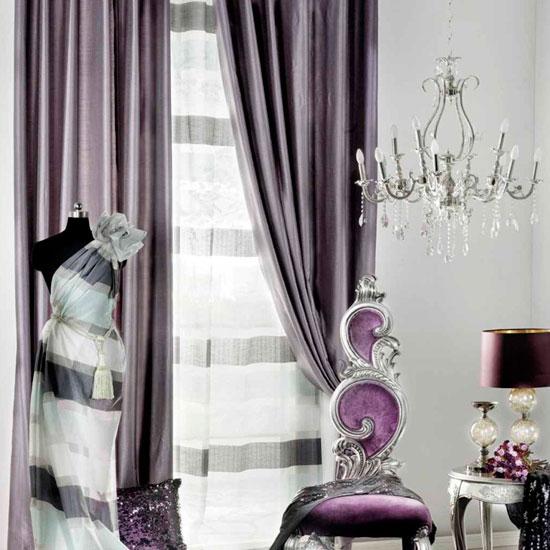 Гардины для светлых комнат из темной ткани