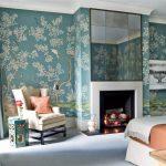 Фото 88: Красивые обои в спальне с цветочным принтом