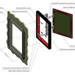 Фото 35: Схема дверцы люка для маскировки труб