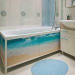 Фото 37: Маскировка труб под ванной экраном