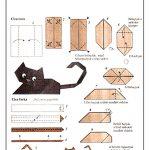 Фото 15: кошка-оригами лежащая