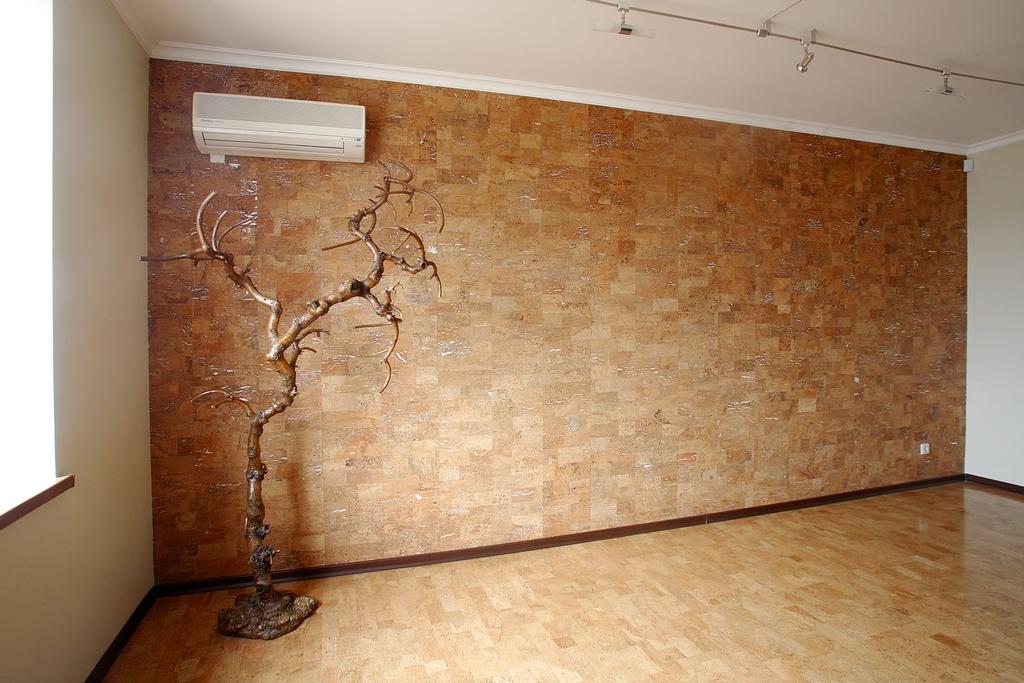 Отделка стен пробковой доской