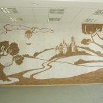Фото 29: Пейзаж на стене с использованием пробки