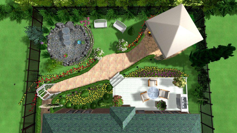 Проект дизайна двора