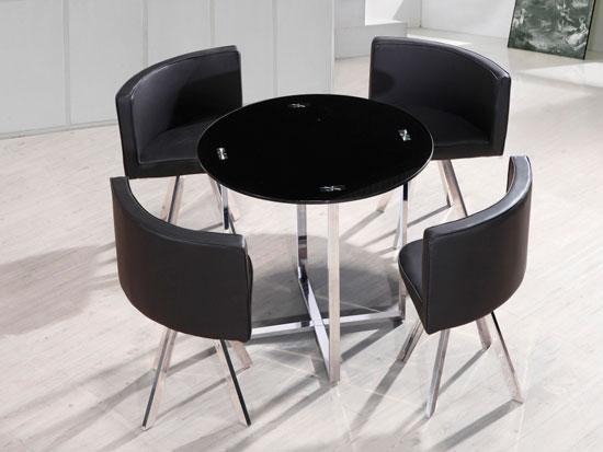 Комплект из круглого стола и стульев