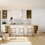 Фото 60: Скандинавский дизайн кухни минимализм