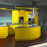 Фото 53: Яркая кухня в стиле хай-тек