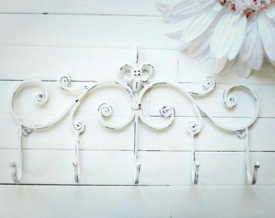 Декор одежных крючков для холла во французском деревенском стиле