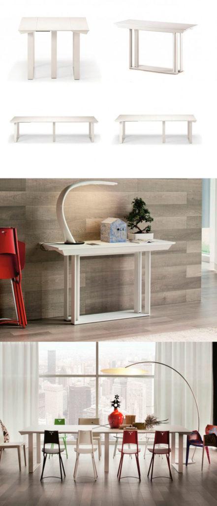 Стол-трансформер для гостиной очень удобно использовать