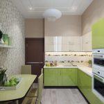 Фото 99: Обои с 3Д мозаикой на кухне