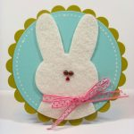 Фото 45: Аппликация с фетром в виде кролика