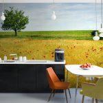 Фото 73: Фотообои на кухне