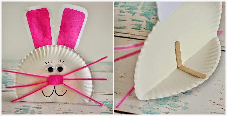 Кролик из бумажной тарелки